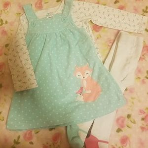 Carter's 12 month 4 piece outfit